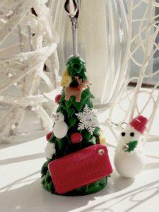 クリスマスメモスタンド、樹脂粘土