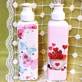 デコパージュ,藤沢,ハンドメイド教室,洗剤ボトル