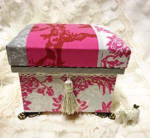手のひらサイズのミニ茶箱,マリーアントワネット,ミニ茶箱,藤沢,ハンドメイド教室