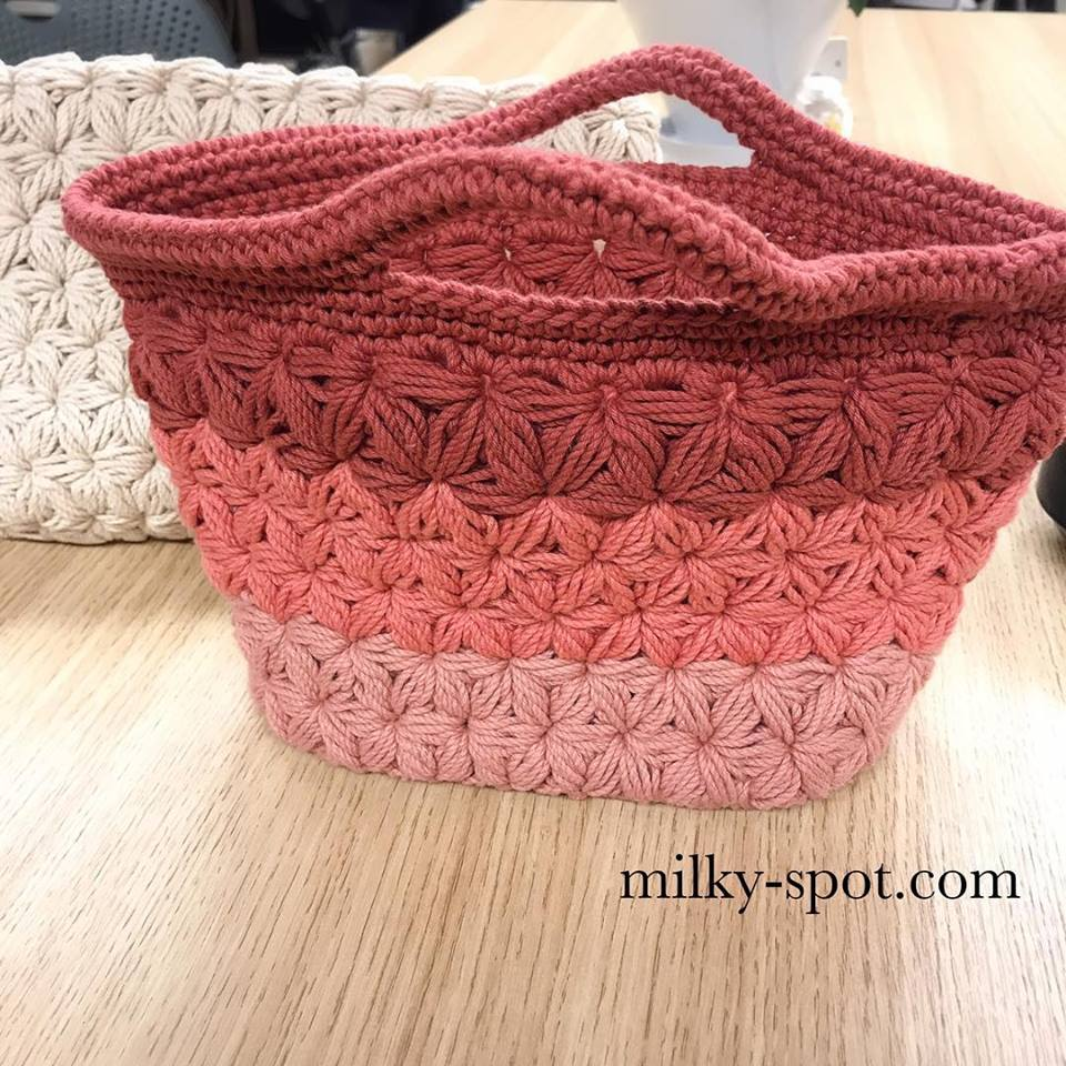リフ編みバックのイメージ