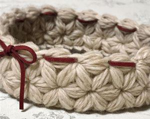 編み物,リフ編み,トレー,藤沢
