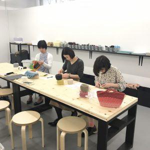 横浜アソビル 3F MONOTORY,リフ編み,バッグ