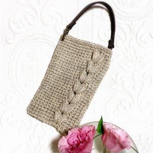 編み物スマホケース